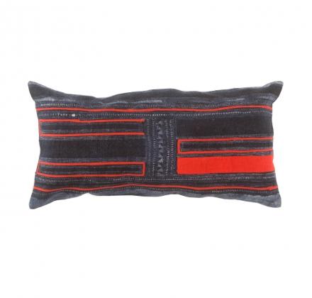 Hmong Indigo Kırmızı Yastık II